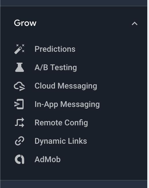 Remote Config menu option screenshot