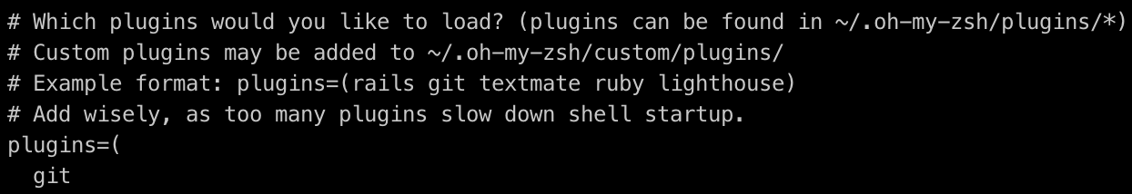 Oh-my-zsh plugins screenshot