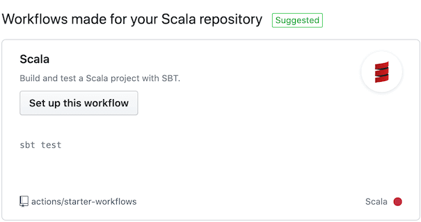 GitHub Actions Template screenshot