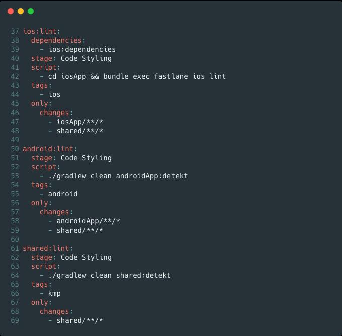 GitLab CI code quality stage screenshot