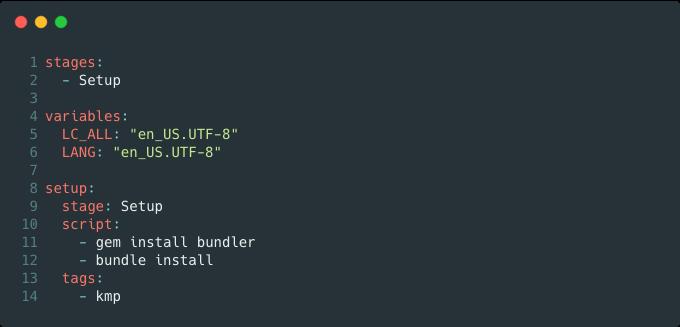 GitLab CI setup stage screenshot