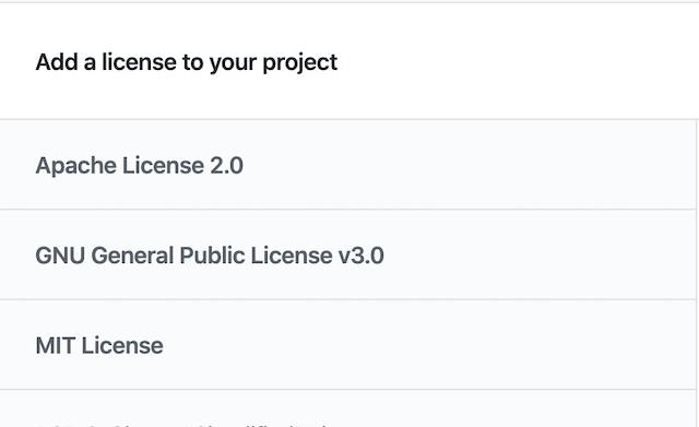 License name screenshot