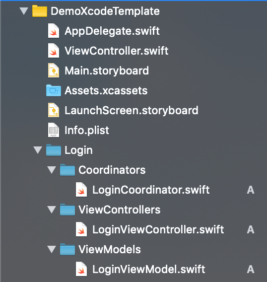 Xcode Template files screenshot